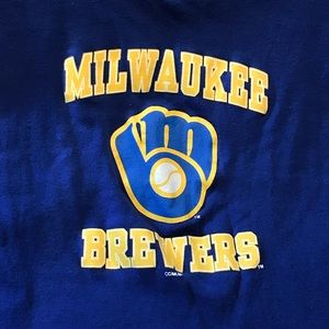 sideline apparel Tops - Blue Milwaukee Brewers tank